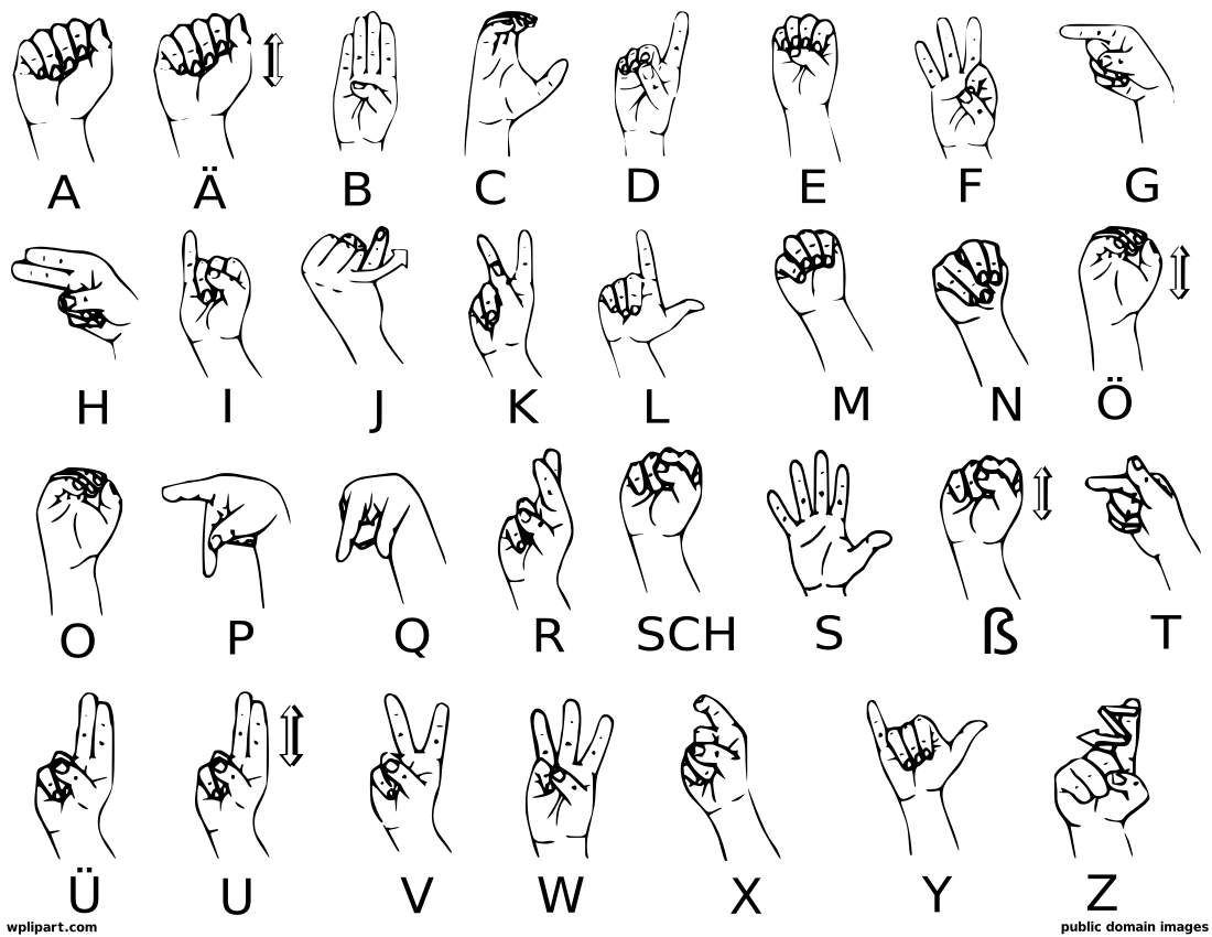 Sign Language A Clip Art Download.