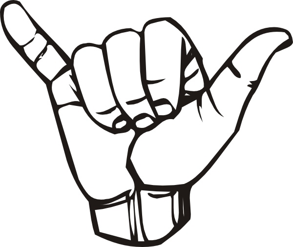 Sign Language Y Hang Loose clip art Free vector in Open.