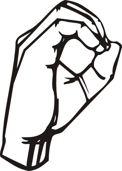 Sign Language Clipart Letter O.