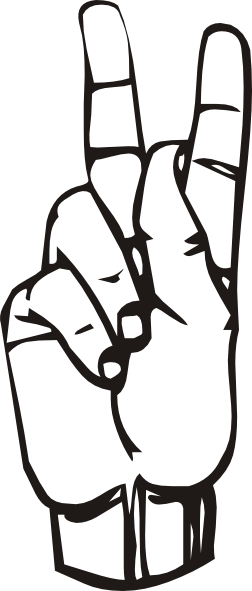 Sign Language Clipart Letter K.