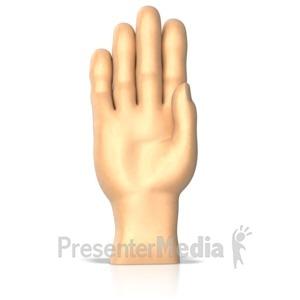 Sign Language letter C.