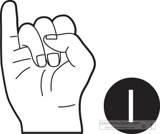 Sign Language Clipart Letter A.