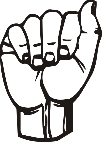 Sign Language Clipart Letter E.