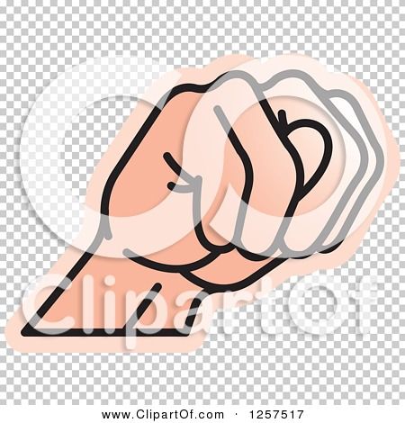 Clipart of a Sign Language Hand Gesturing Letter N.