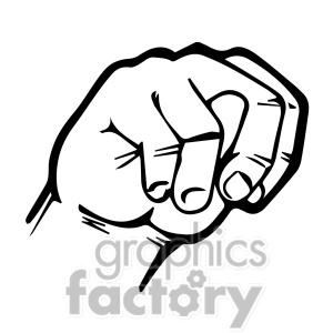 Sign Language Clipart Letter N.