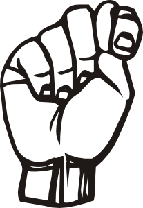 Sign Language Clipart Letter A.