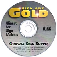 SignMaking Clipart from Ordway Sign Supply.