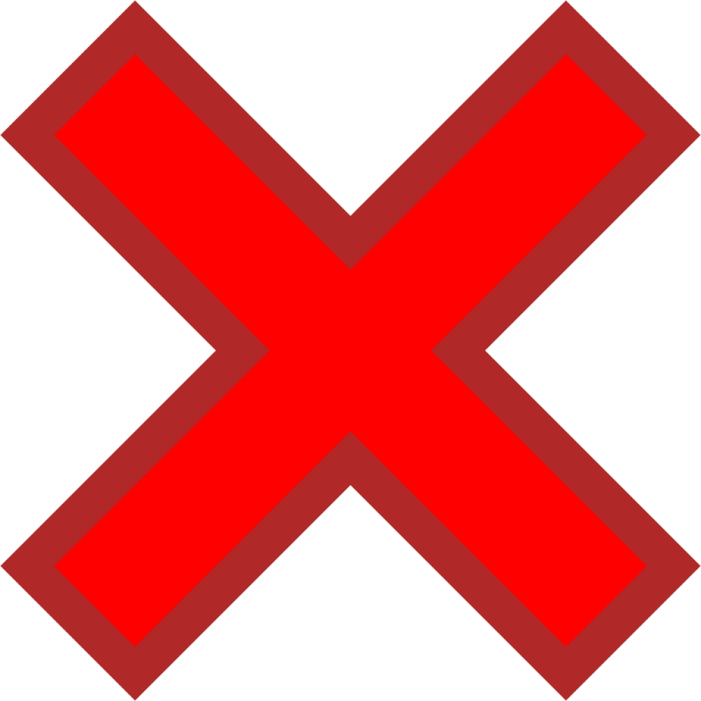 The no sign clipart.