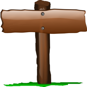 Wooden Sign Clipart.