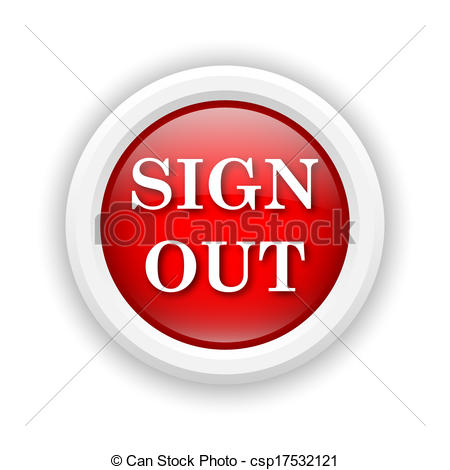 Clip Art of Sign out icon.