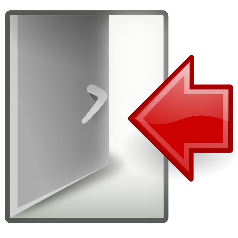 Log Out Clipart.