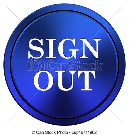 Stock Illustration of Sign out icon.