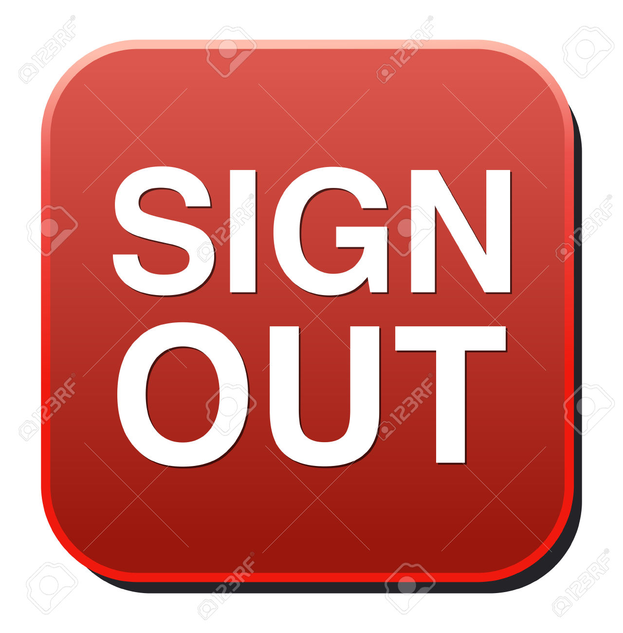 Sign Out Button Royalty Free Cliparts, Vectors, And Stock.