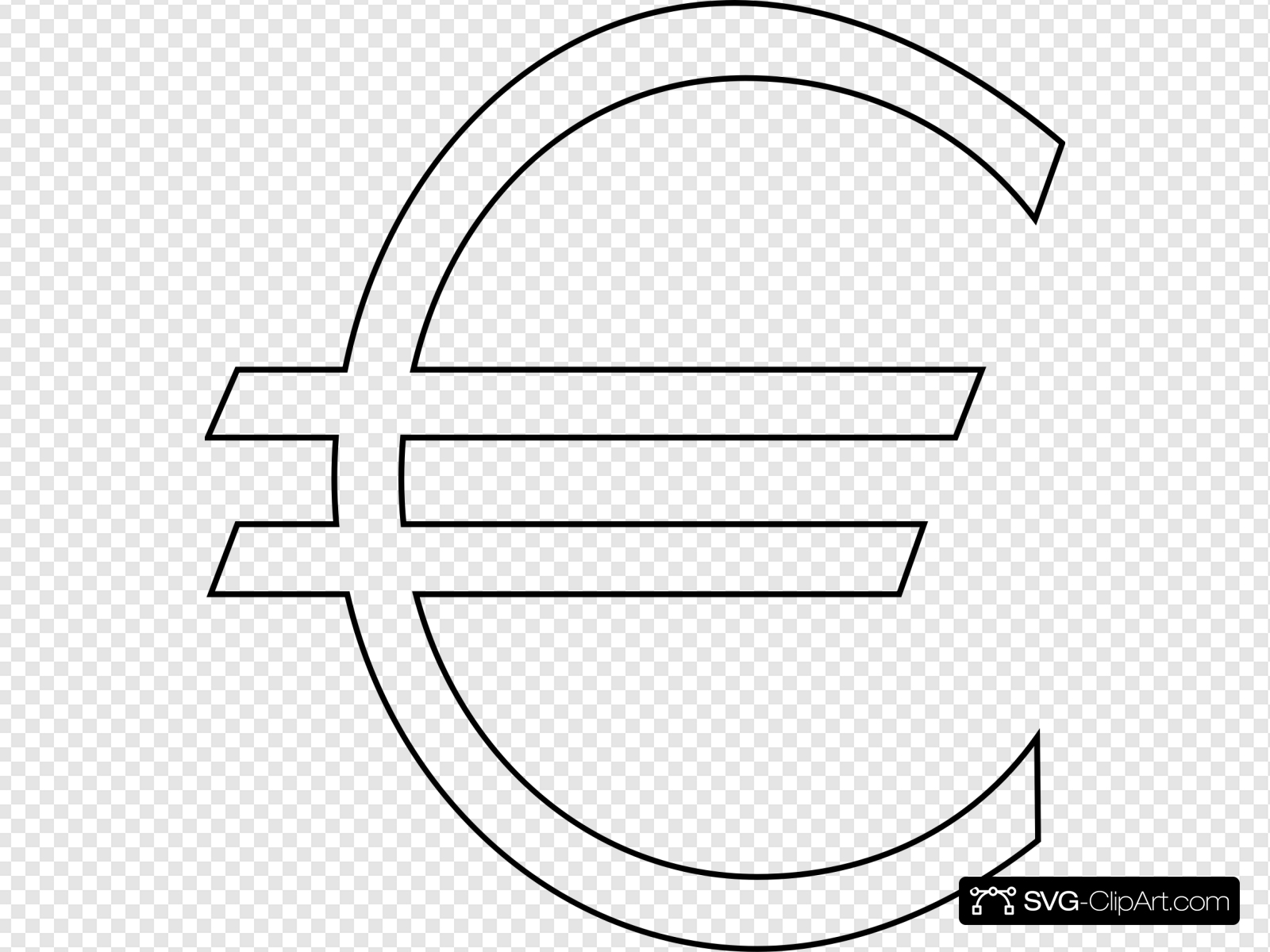 Euro Sign Outline Clip art, Icon and SVG.