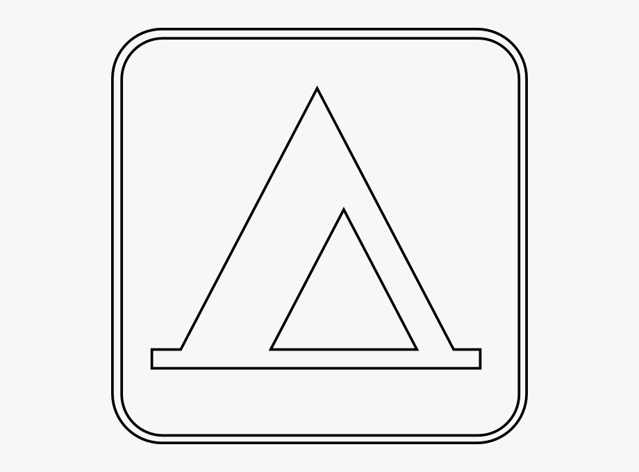 Camping Sign Outline Clip Art At Clker.