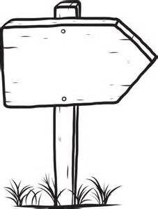Street Sign Outline Clipart.