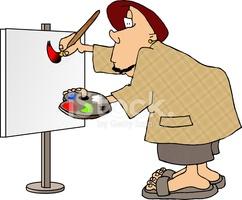 Sign Painter stock photos.