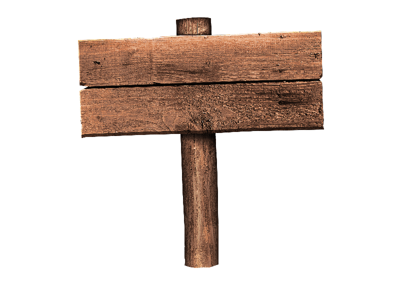 Free Wood Sign PNG (Isolated.