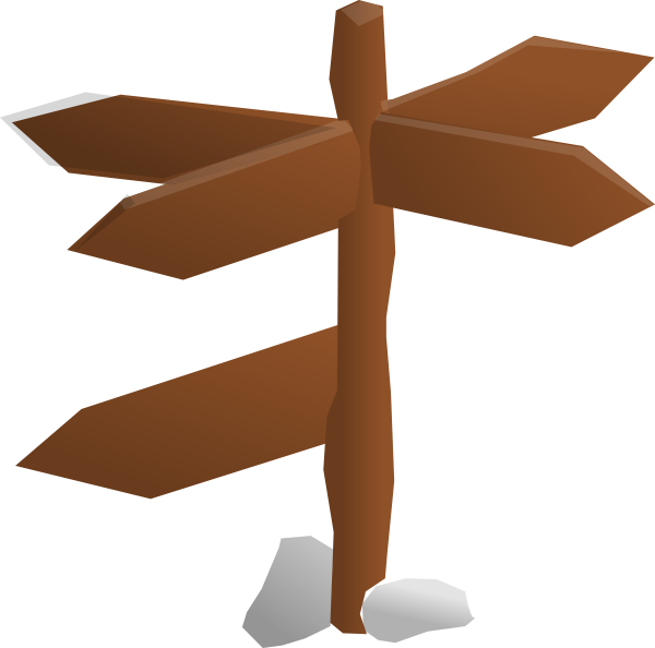 Directions Sign Post Clipart.