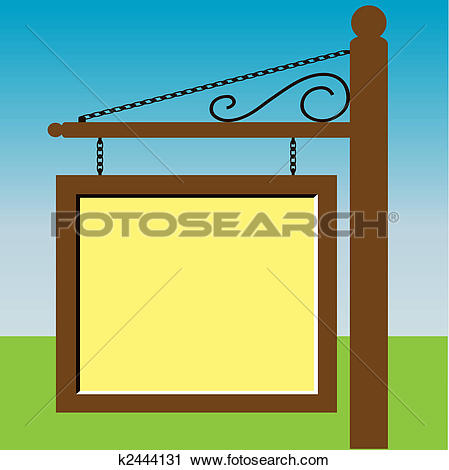 Clipart of Sign Post k2444131.