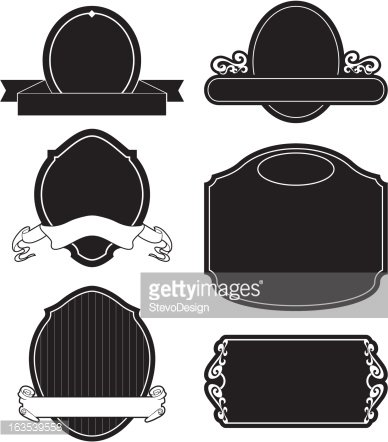 Sign Shapes Clipart Image.