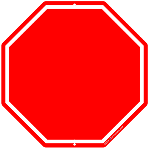 Editable stop sign clipart.