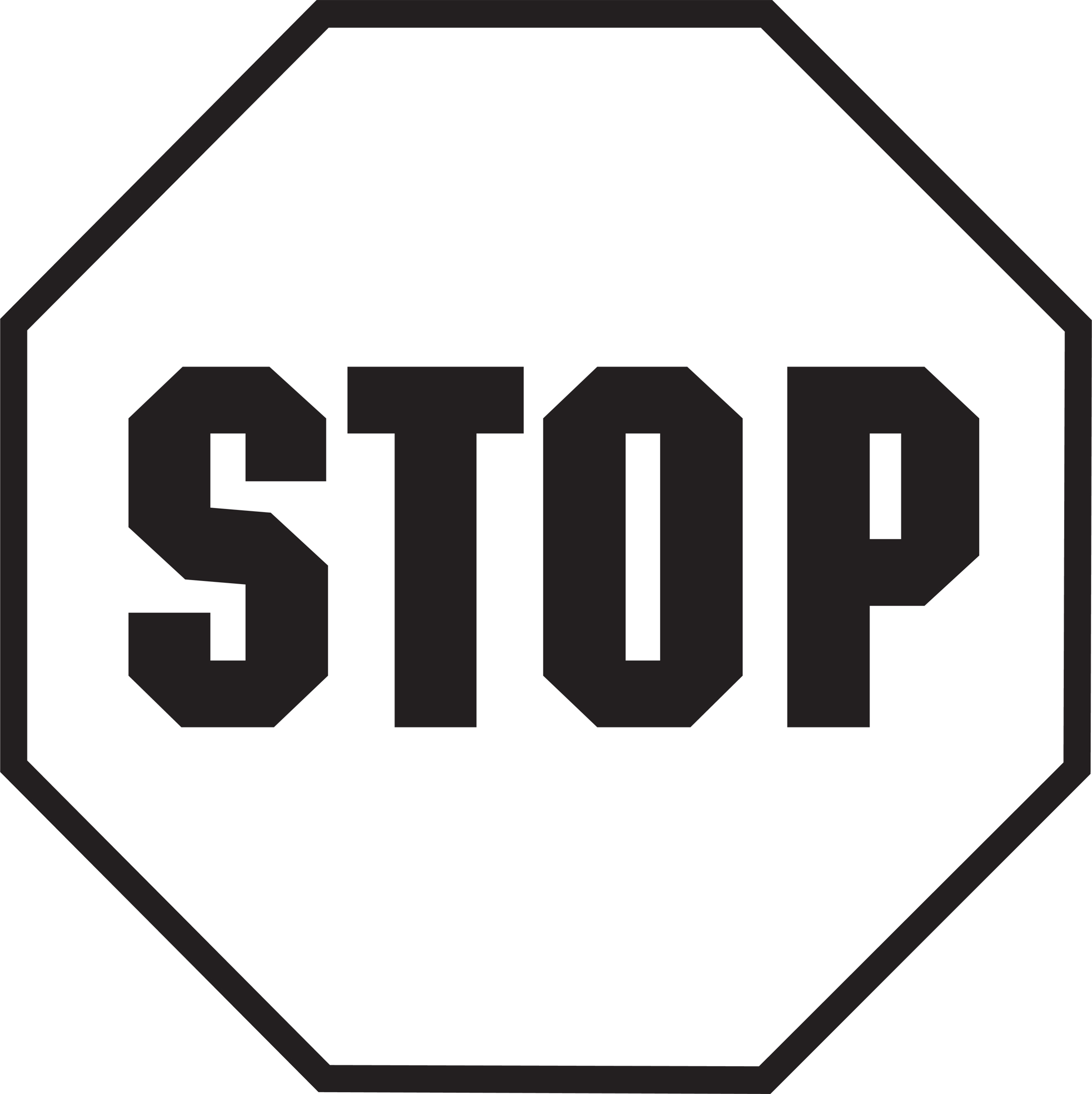 Stop Sign Template Printable.