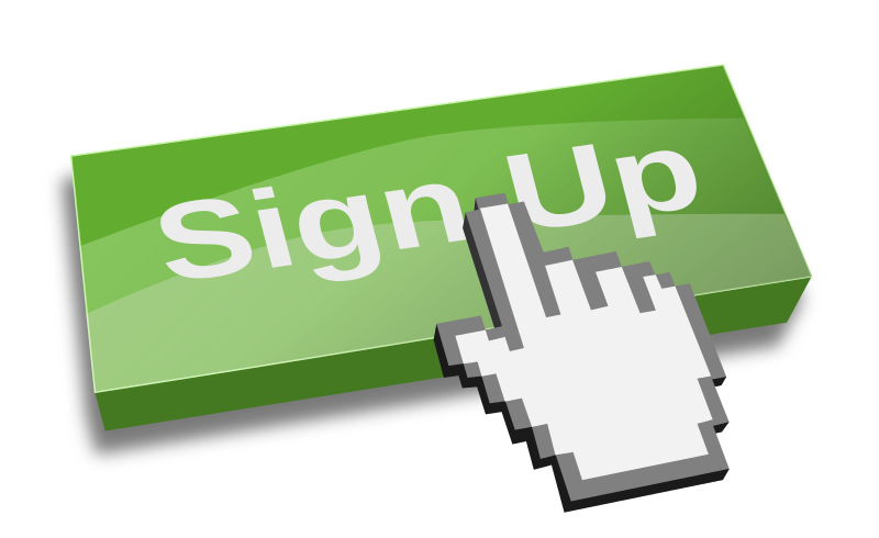 Sign Up Clipart.