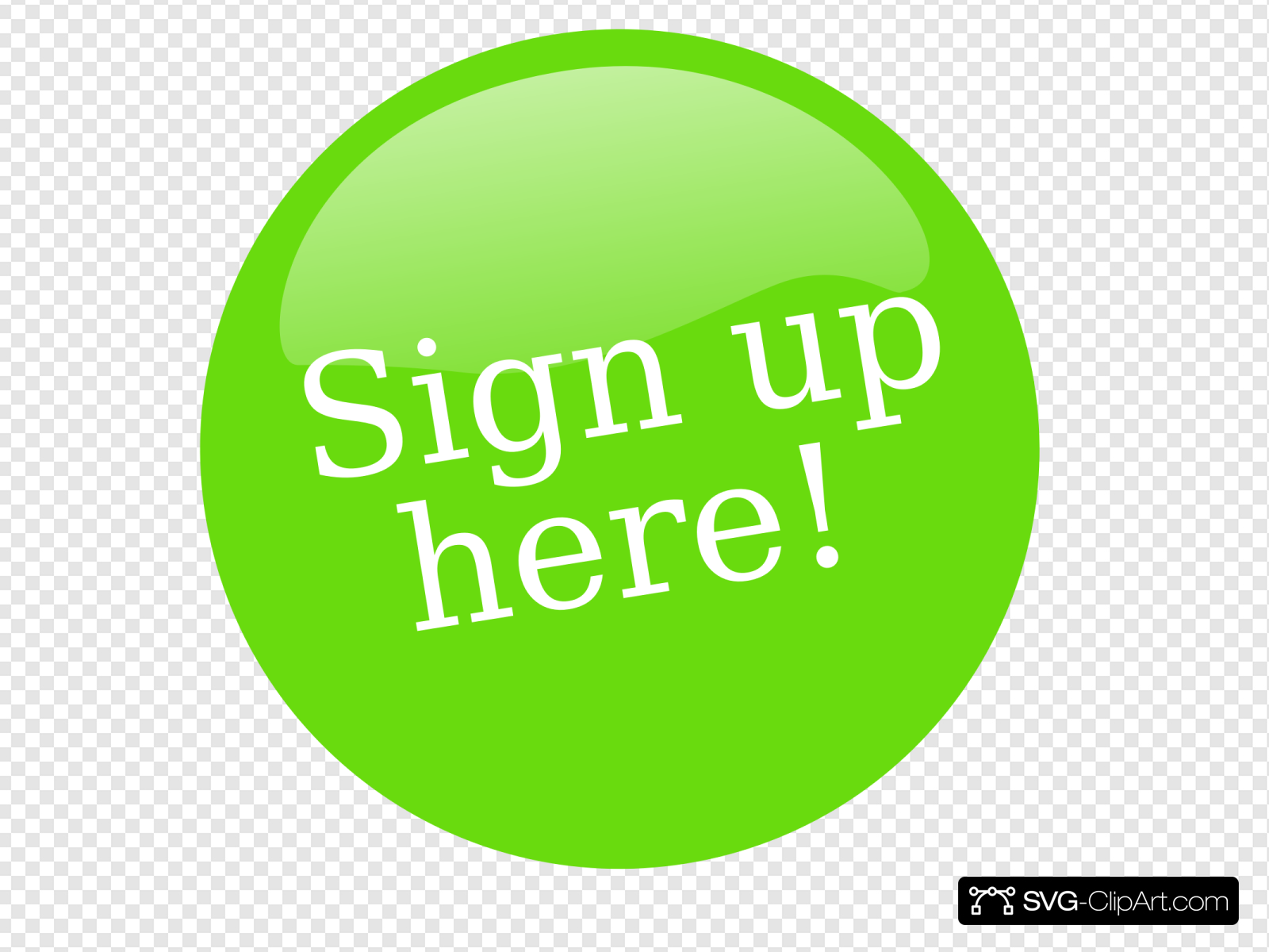 Sign Up Button Clip art, Icon and SVG.