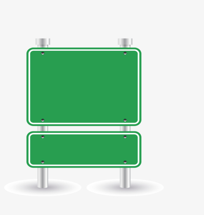 Large Green Road Sign Vector, HD, Vector #30696.