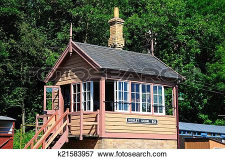 Picture of Wooden railway signal box. k21583957.
