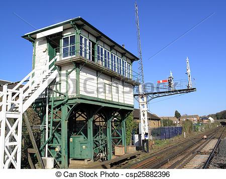 Stock Photographs of Signal Box.