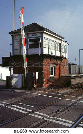 Pictures of Signal Box and Level Crossing Wool Dorset tra.