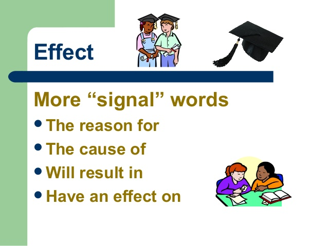 English grammar conjunctive adverbs cause and effect.