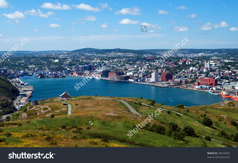 View St Johns Newfoundland Canada Signal Stock Photo 34673092.