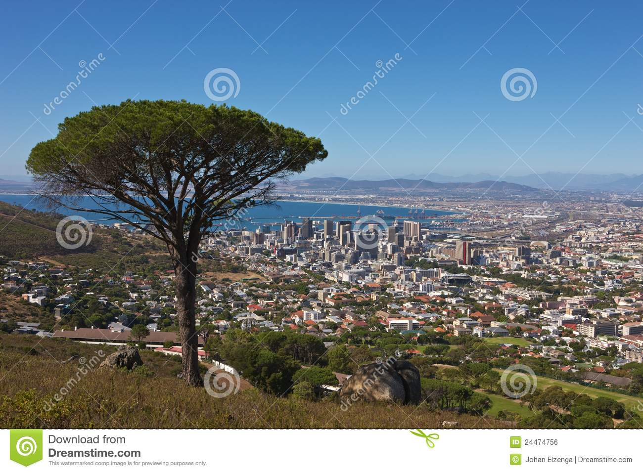 Signal Hill View Royalty Free Stock Image.