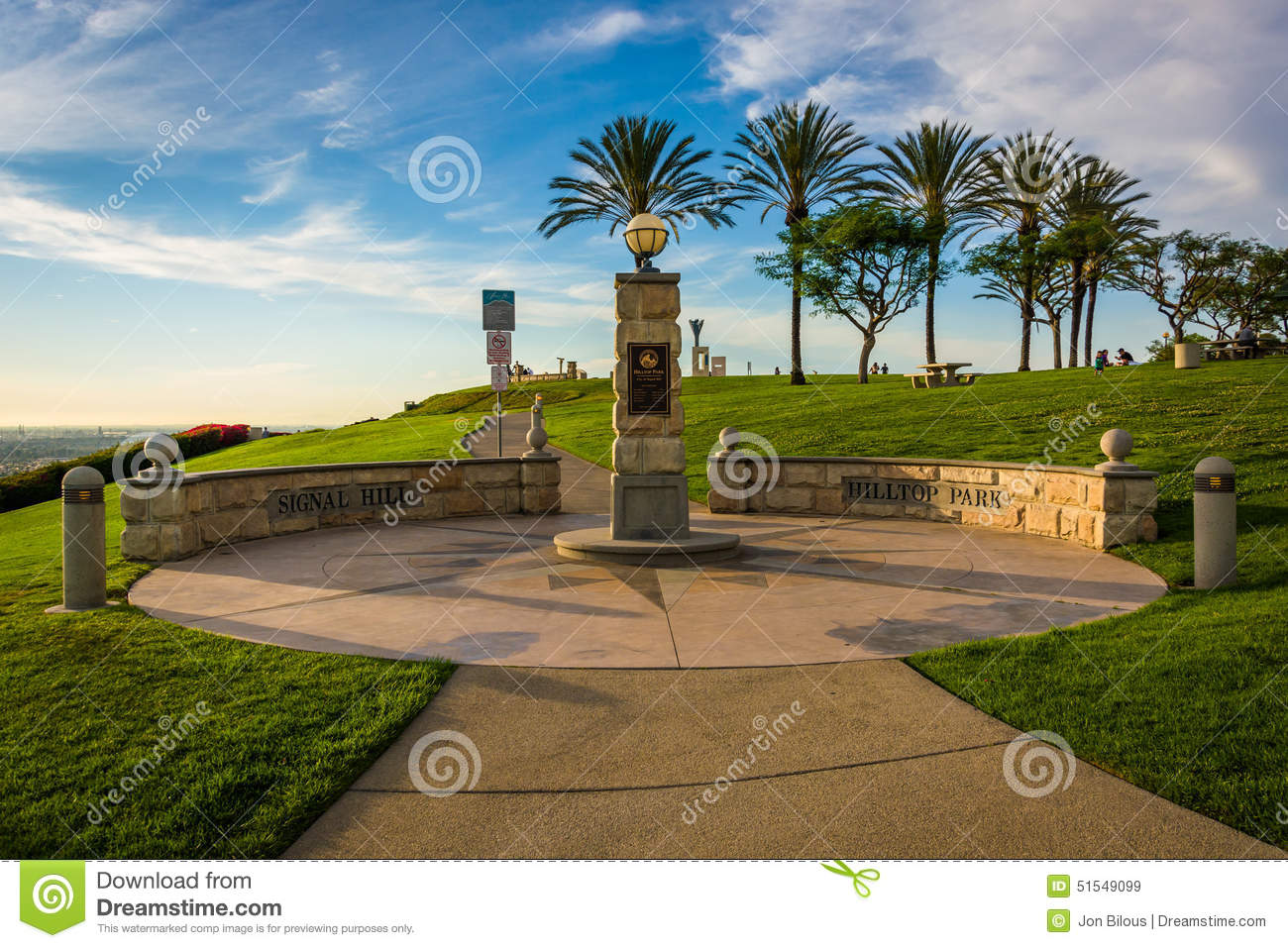 Hilltop Park, In Signal Hill, Long Beach Stock Photo.