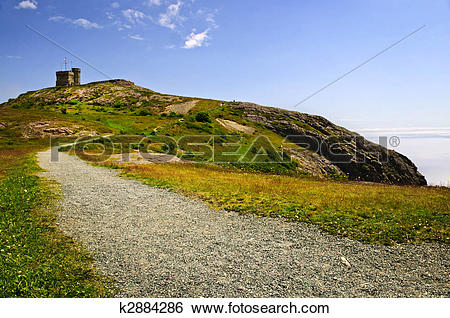 Stock Images of Long path to Cabot Tower on Signal Hill k2884286.