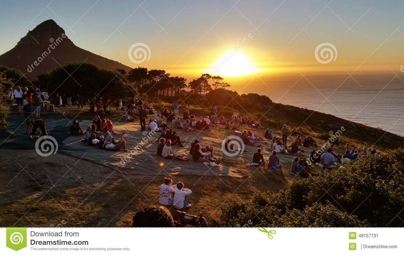 Sunset On Signal Hill Cape Town. Editorial Photo.