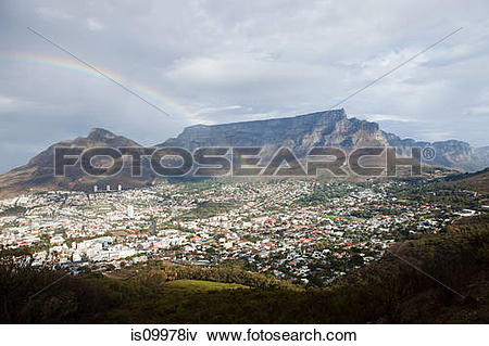 Picture of View across Cape Town to Table Mountain and Twelve.