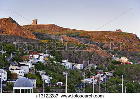 Picture of View of The Battery and Cabot Tower (Signal Hill.