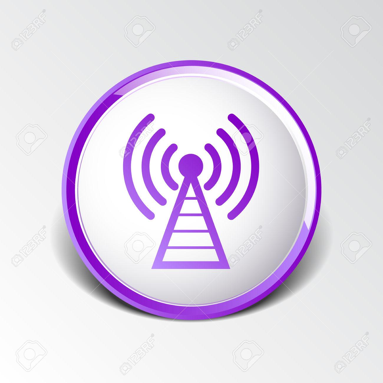 Antenna Icon Tower Radio Mast Signal Antenna Vector Network.