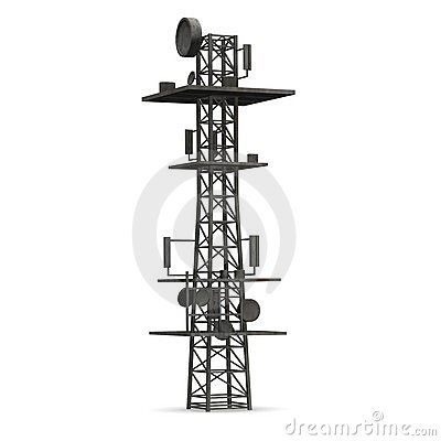 Cell Tower Stock Illustrations.