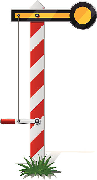 Semaphore Signal Post Clip Art, Vector Images & Illustrations.