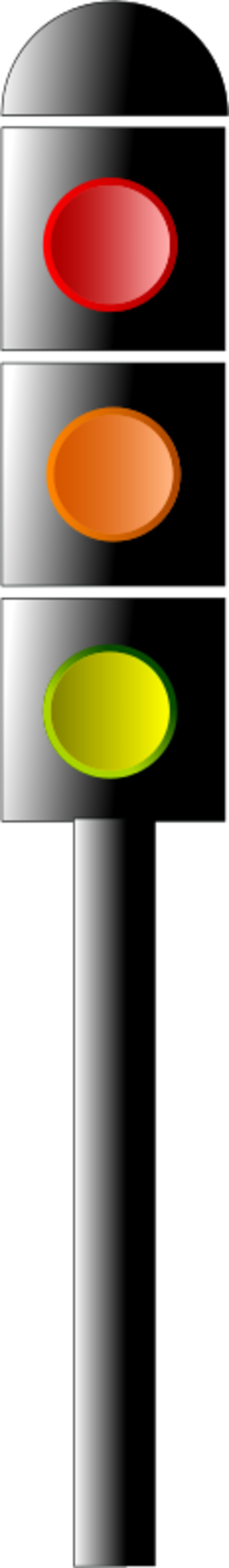 Traffic semaphore signal light.