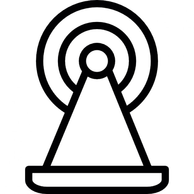 Tower of wireless signal transmission Icons.