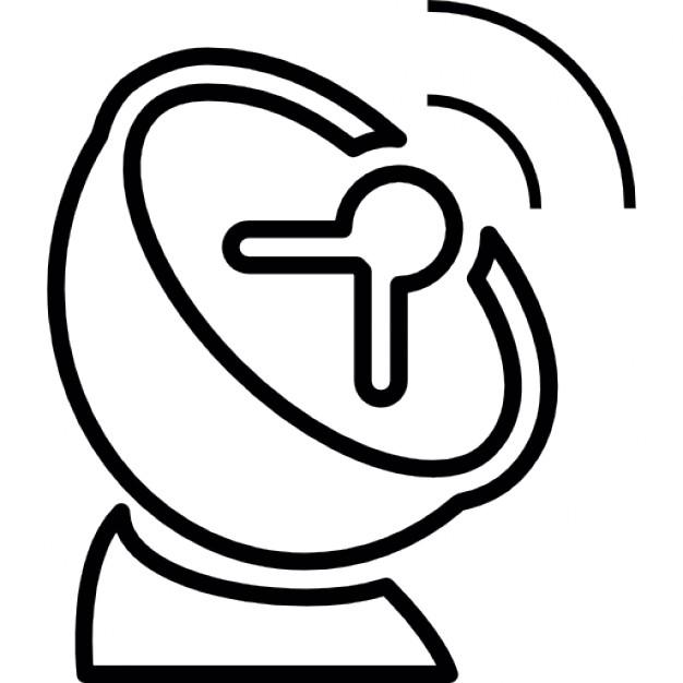 Dish signal transmission, IOS 7 symbol Icons.
