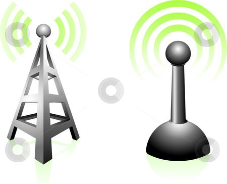 Signal Transmission stock vector.