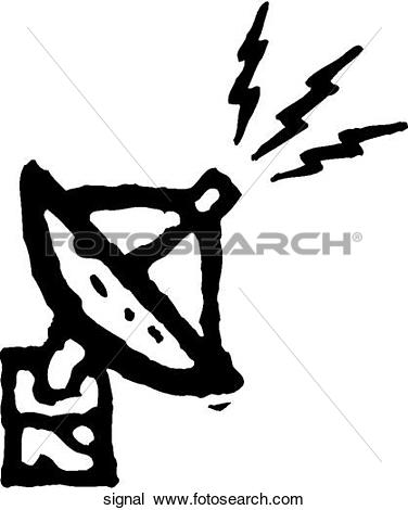 Clipart of Send Signals signal.