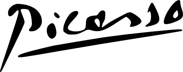 Picasso Signature clip art (107071) Free SVG Download / 4 Vector.